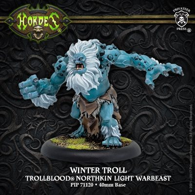 Trollbloods Winter Troll Light Warbeast Resculpt Resin