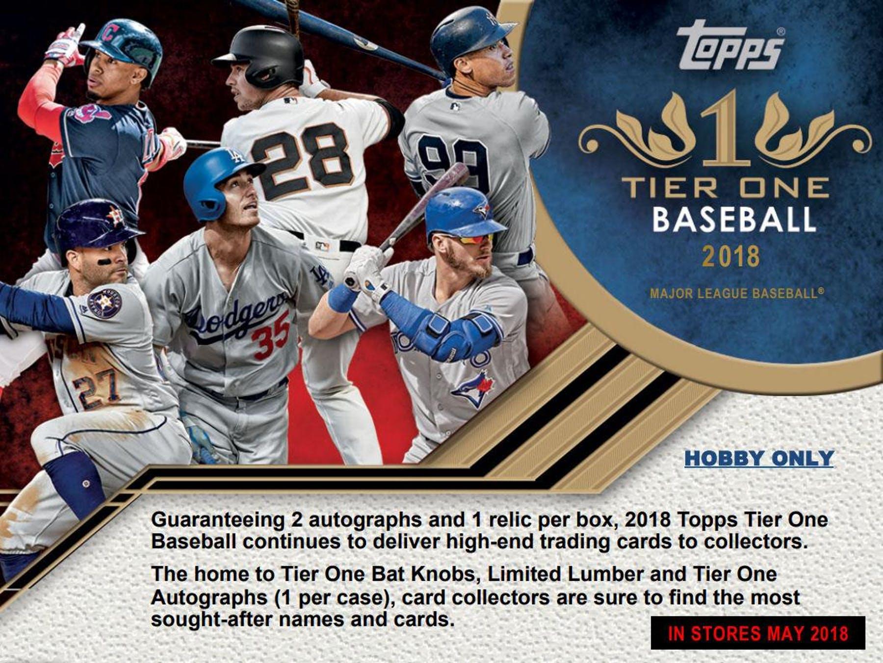 2018 Topps Tier One Baseball Hobby Box