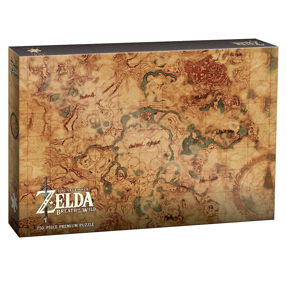 Legend Of Zelda Puzzle Hyrule World Map Out Of The Box Cards